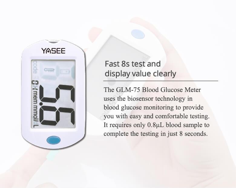 GLM-75-Blood-Glucose-Meter-details